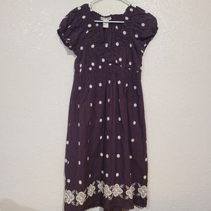 Burgundy Embroidered Boho Style Dress